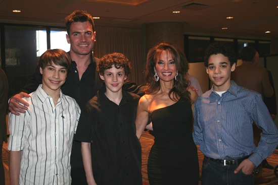 Kiril Kulish, Aiden Turner, Trent Kowalik, Susan Lucci and David Alvarez